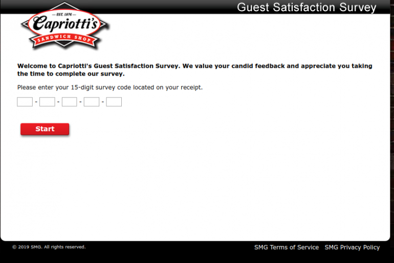 Capriotti s Guest Satisfaction Survey