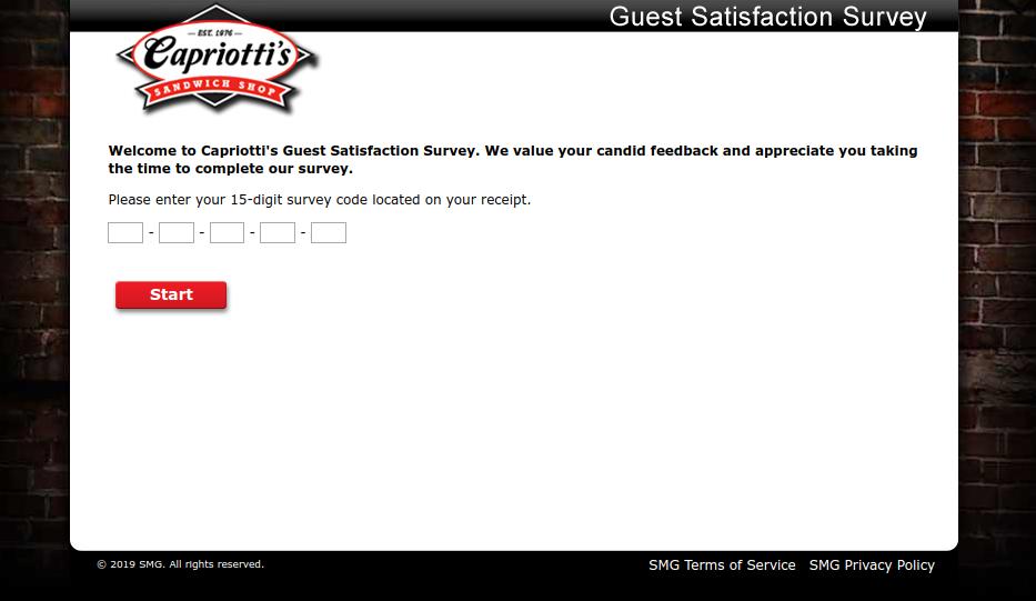 Capriotti s Guest Satisfaction Survey