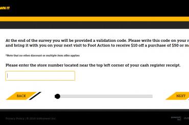 Footaction Survey