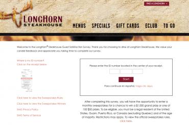 LongHorn Steakhouse Guest Satisfaction Survey