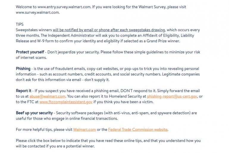 walmart Survey