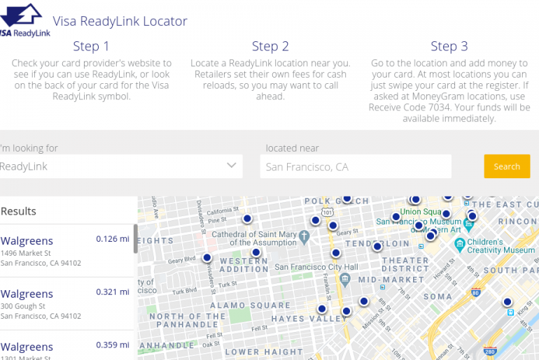 Visa ReadyLink Locator