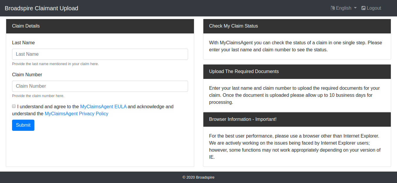 Check Claim Status of Myclaimsagent