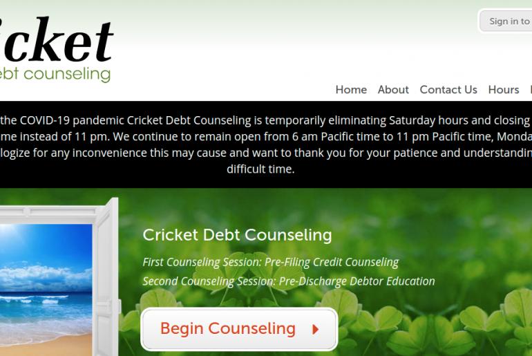 Cricket Debt Counseling Logo