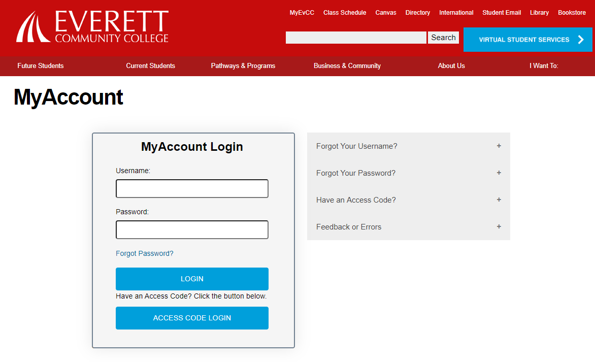 EvCC account login