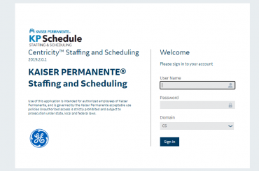 Kpschedule login