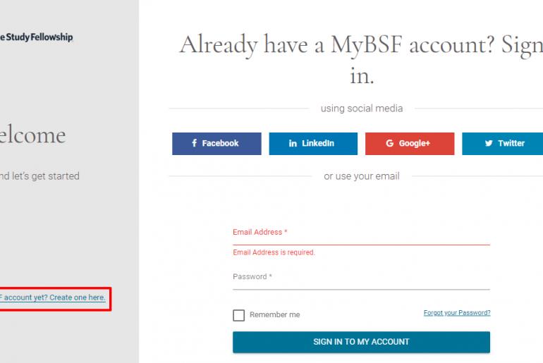 Login Guide for MyBSF Account