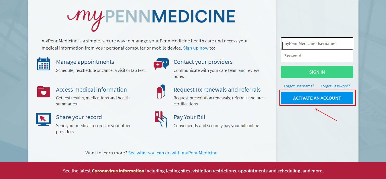 MyPennMedicine Patient Login