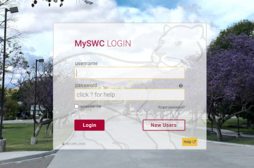 MySWC Account login
