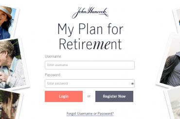 Procedure to Login into the John Hancock Retirement Portal