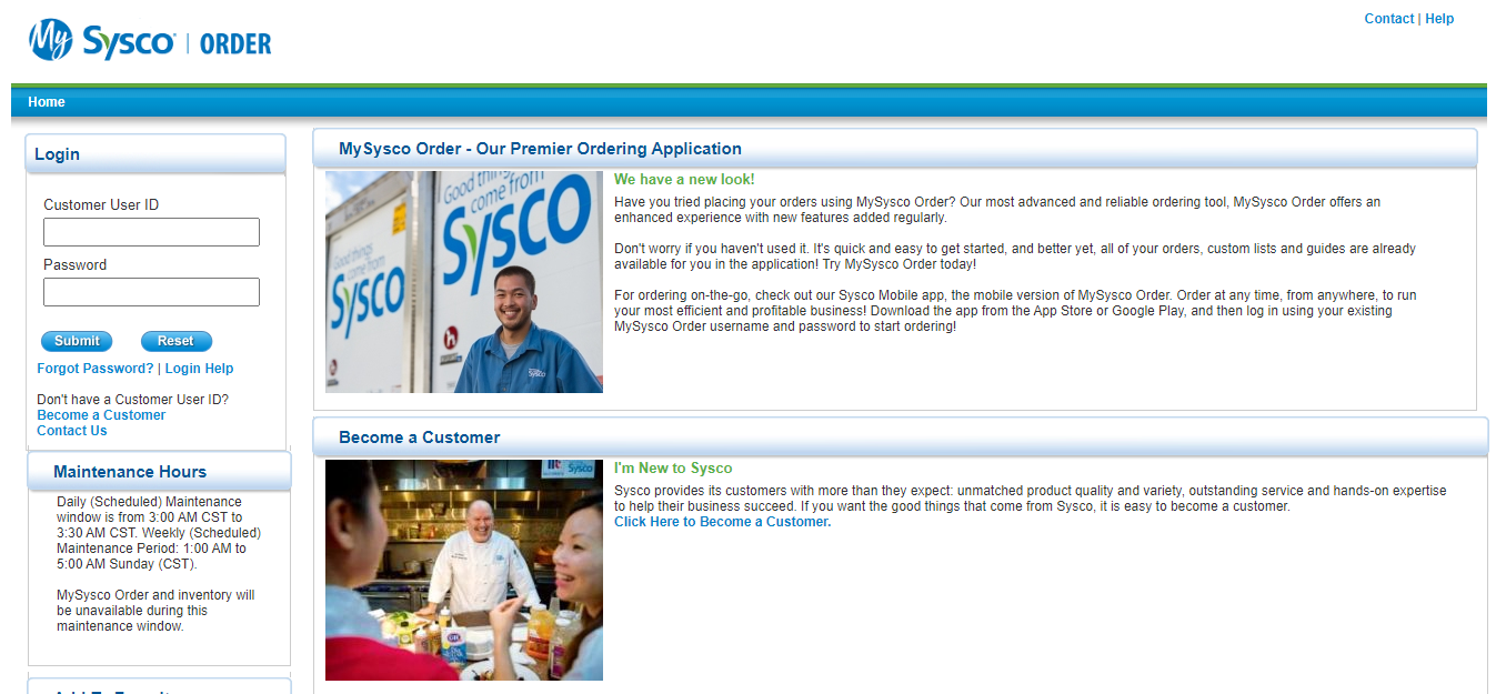 Sysco net login