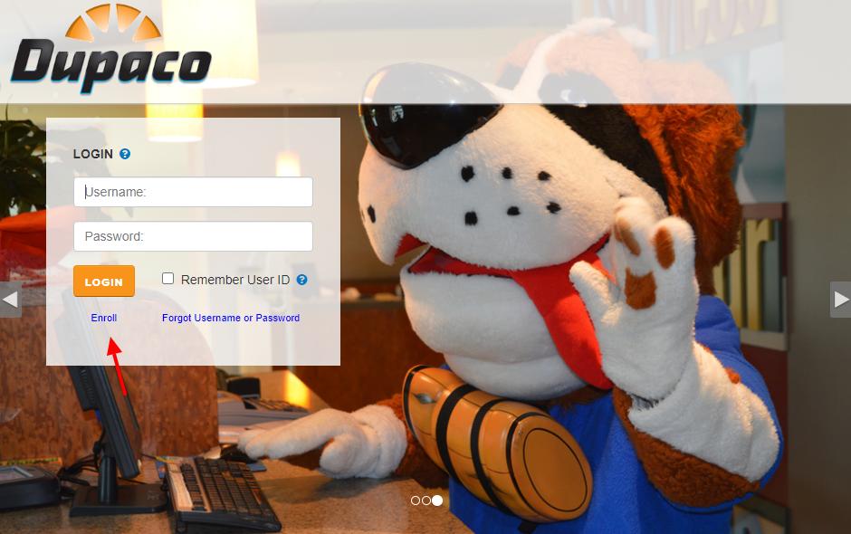Dupaco Credit Card Enroll