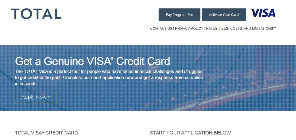 Total Visa Credit Card Apply