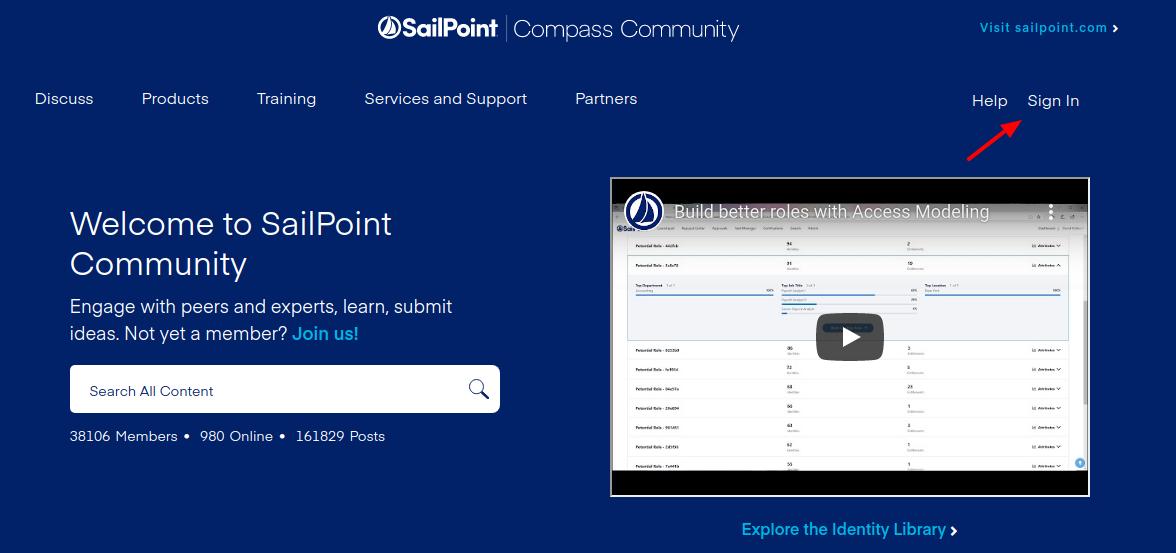 sailpoint compass login