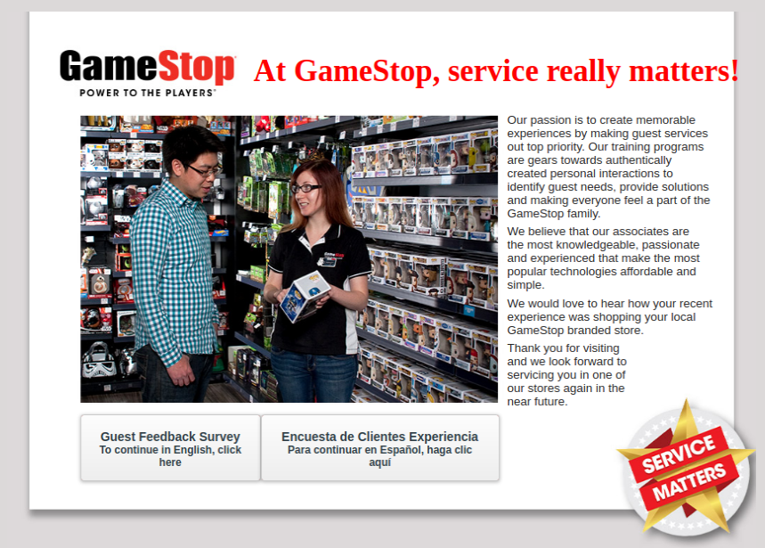 GameStop Customer Survey