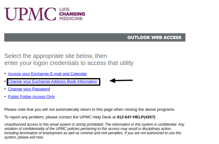 upmc mail login