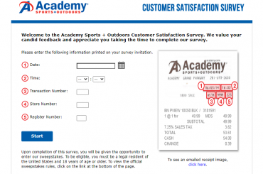 Academy Sports Outdoors Survey