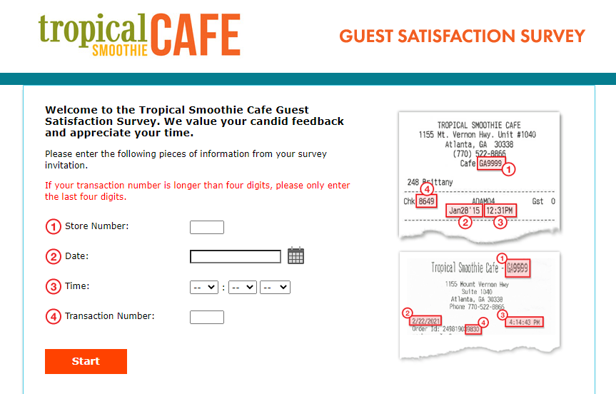Tropical Smoothie Survey