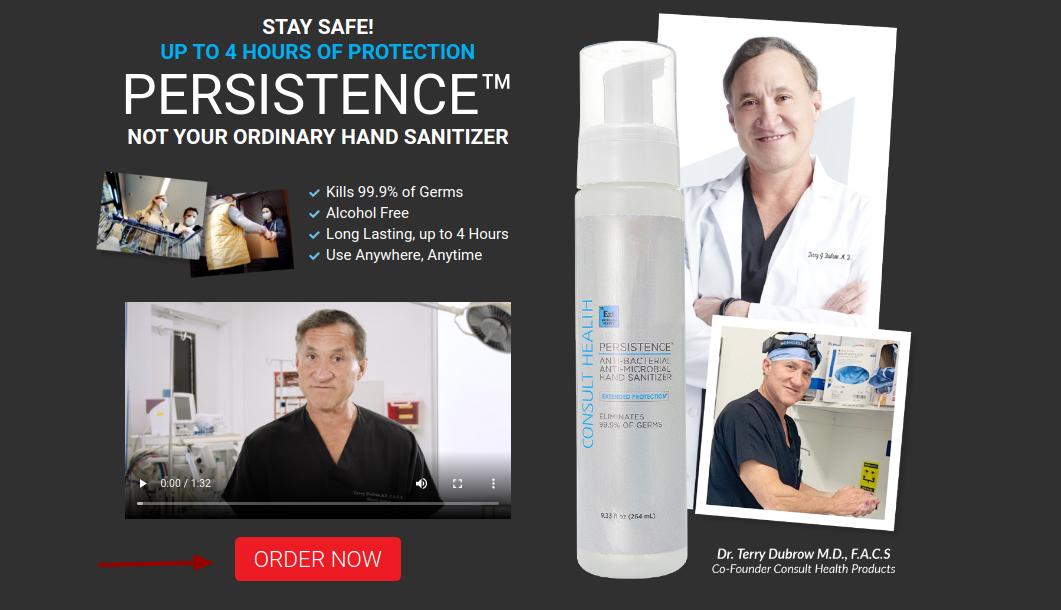 persistence hand sanitizer buy