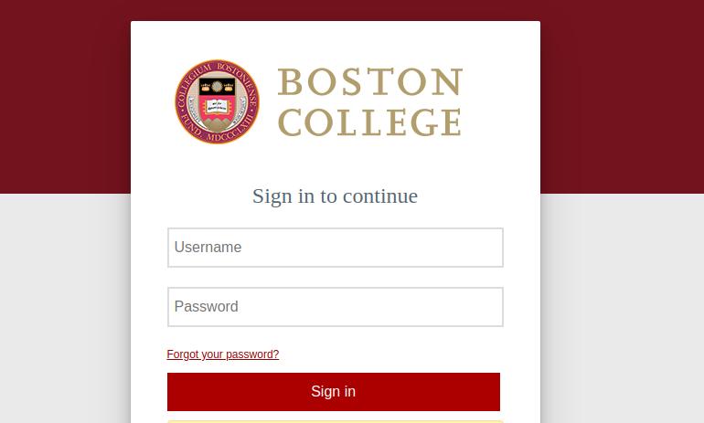 boston college login